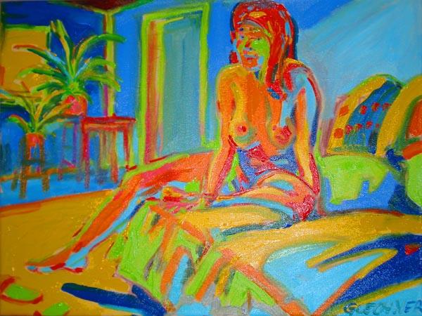 Akt mit Zimmerpflanzen, Ölgemälde, nude painting, oil on canvas, Tegning fra nøgen, nøgen, tegning, smuk, kvindelig skønhed, kunst, maleri, de dessin Nu, blyant, kridt, trækul, kul, kvinde, kvinder, pige, krop, figur, farvekridt, pastel, akvarel nøgen, nøgen  stregtegning, digt, poesi, bryster, røv